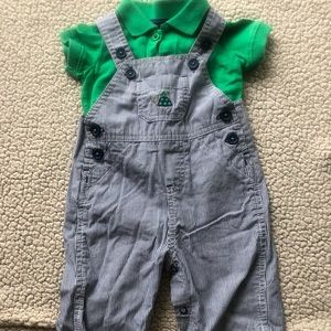 Baby boy overall outfit